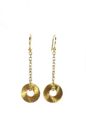 Melinda Lawton Jewelry Gold Disc Earrings