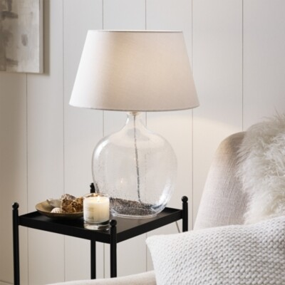 The White Company St Ives Table Lamp , Clear, One Size