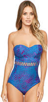 Figleaves Maui Underwired Bandeau Tummy Control Swimsuit