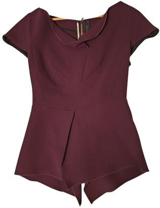 Roland Mouret Purple Wool Top for Women