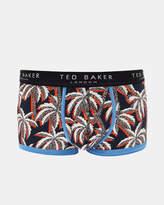 Palm Print Cotton Boxer Shorts
