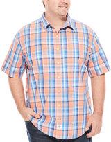 Izod Saltwater Short-Sleeve Poplin Shirt - Big & Tall