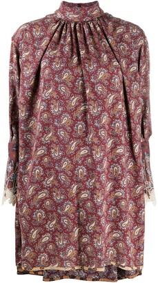 Chloé High-Neck Paisley Dress