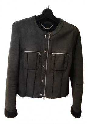 Loewe Anthracite Leather Leather jackets
