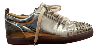 Christian Louboutin Louis junior spike Silver Leather Trainers