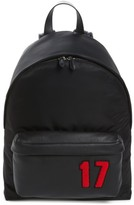 Givenchy Men's 17 Patch Mix Media Backpack - Black