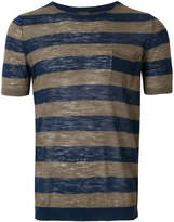 Roberto Collina striped short-sleeve top