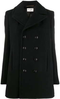 Saint Laurent Double-Breasted Oversized Coat