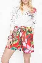 Desigual Empire Embroidered Blouse