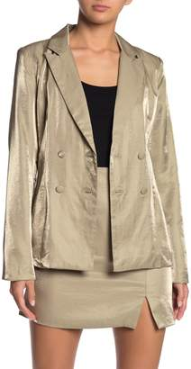 Do & Be Do + Be Peak Lapel Metallic Double Breasted Blazer