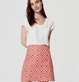 LOFT Petite Geo Jacquard Shift Skirt