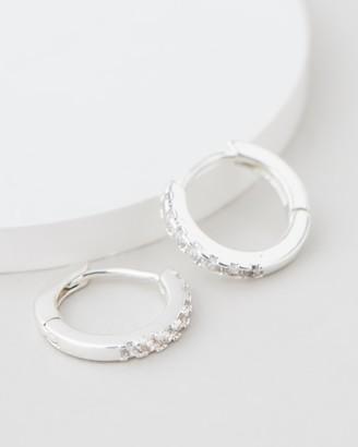 Estella Bartlett Pave Set Hoop Earrings with White CZ