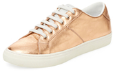 Marc Jacobs Empire Metallic Leather Low Top Sneaker