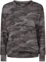 Sundry Camouflage Print Sweater, Green, 2
