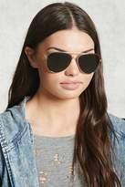 Forever 21 Brow-Bar Aviator Sunglasses
