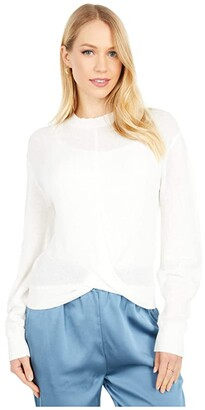 Bishop + Young Aria Knot Front Sweater (Natural) Women's Clothing