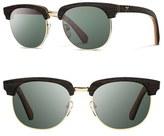 Shwood Men's 'Eugene' 54Mm Polarized Wood Sunglasses - Ebony Gold