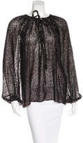 Michael Kors Fringed Long Sleeve Blouse