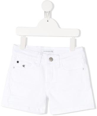 Calvin Klein Kids Short Denim Shorts