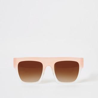 River Island Girls Pink flat top sunglasses