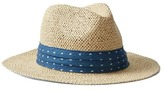 Gap Pleated chambray straw panama hat