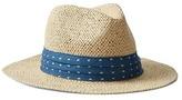 Gap Pleated chambray straw panama hat