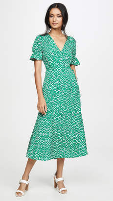 re:named apparel re:named Drew Polka Dot Wrap Dress