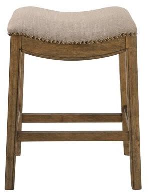 "Montserrat Saddle Style Upholstered 25"" Counter Stool Charlton Home"