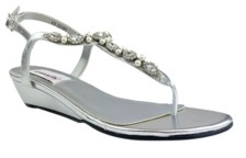 Dyeables Myra Imitation Pearl Wedge Sandal Women's Shoes