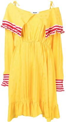 MSGM contrast panel short dress