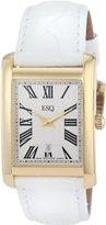 ESQ by Movado Women's 07101382 Filmore Gold-Plated White Crocodile Strap Watch