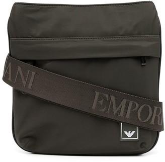 Emporio Armani Logo Patch Messenger Bag