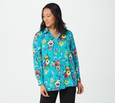 """Linea By Louis Dell'olio by Louis Dell'Olio """"Jac's Garden"""" Printed Woven Button Down Top"""