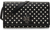 Alexander McQueen Insignia Monogramme Leather Strap Pouch W/Studs
