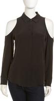 Equipment Nixie Silk Sleeveless Blouse, Black