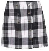 Thom Browne Plaid wool-blend miniskirt
