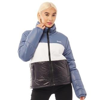 Bench Womens Dimension Jacket Teal/White/Black