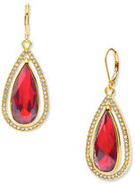 Anne Klein Orbital Siam Epoxy Stone Drop Earrings