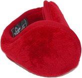 180s Womens Lush Fleece Ear Warmers, Red