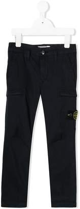 Stone Island Junior slim-fit chino trousers