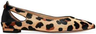 Cole Haan Ramsey Cutout Leopard-Print Calf Hair & Leather Ballet Flats