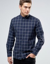 Esprit Window Pane Check Shirt in Regular Fit