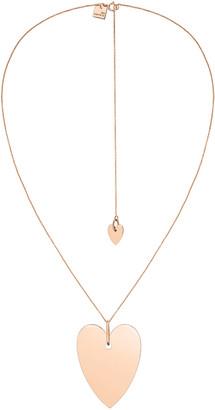 ginette_ny 18k Rose Gold Angele Jumbo Heart Chain Necklace