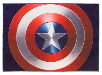 Marvel Captain America Red & Blue Rug (5'x7')