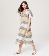 LOFT Beach Sunburst Stripe Caftan Dress