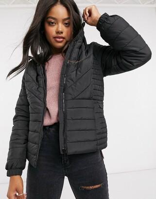 New Look Womens Estelle Colourblock Puffer Jacket