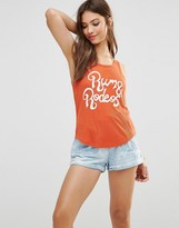 MinkPink Rum And Rodeo Ribbed Tank Top