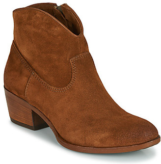 Mjus DALCOLOR women's Low Ankle Boots in Brown