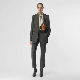 Burberry Wool Cashmere Tweed Tailored Jacket