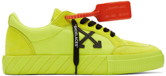 Off-White Yellow Vulcanized Low Sneakers